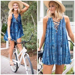 Show Me Your MuMu Rancho Mirage Lace-up Dress XS